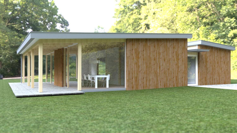 Ruime pensioen bungalow ks160 schuurwoning bouwen - Bungalow ontwerp hout ...