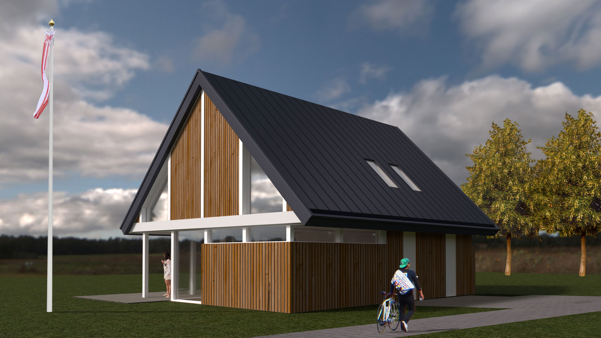 Loft woning bouwen schuurwoning bouwen for Houten huis laten bouwen