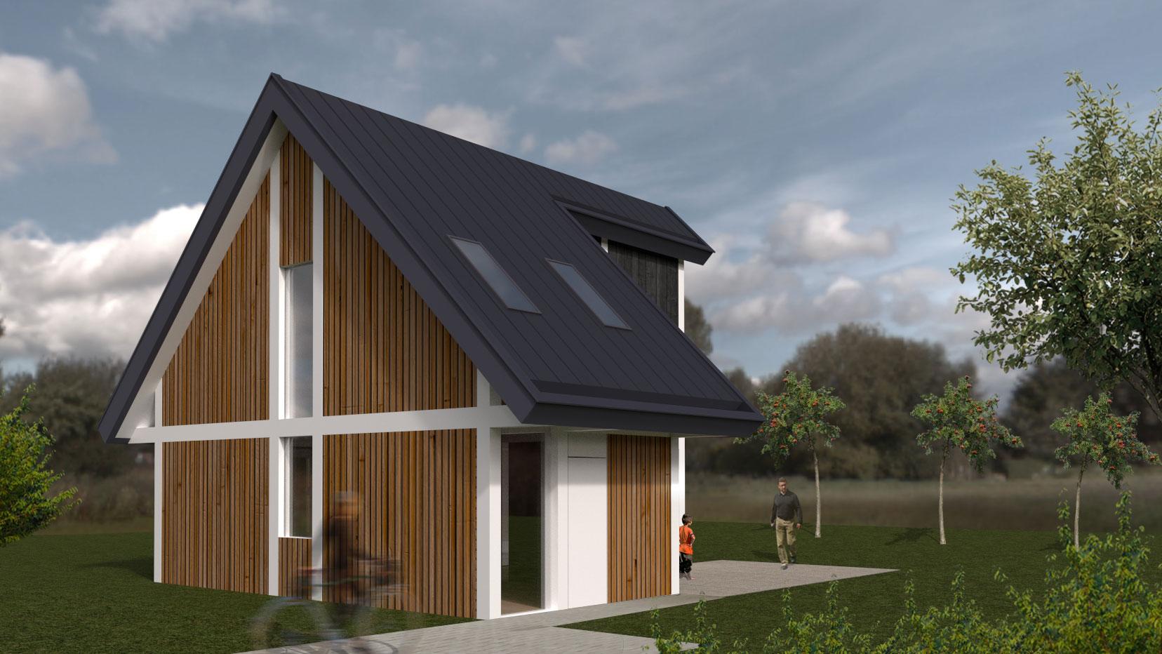 Moderne houten woning schuurwoning bouwen for Zelf huis bouwen kostprijs
