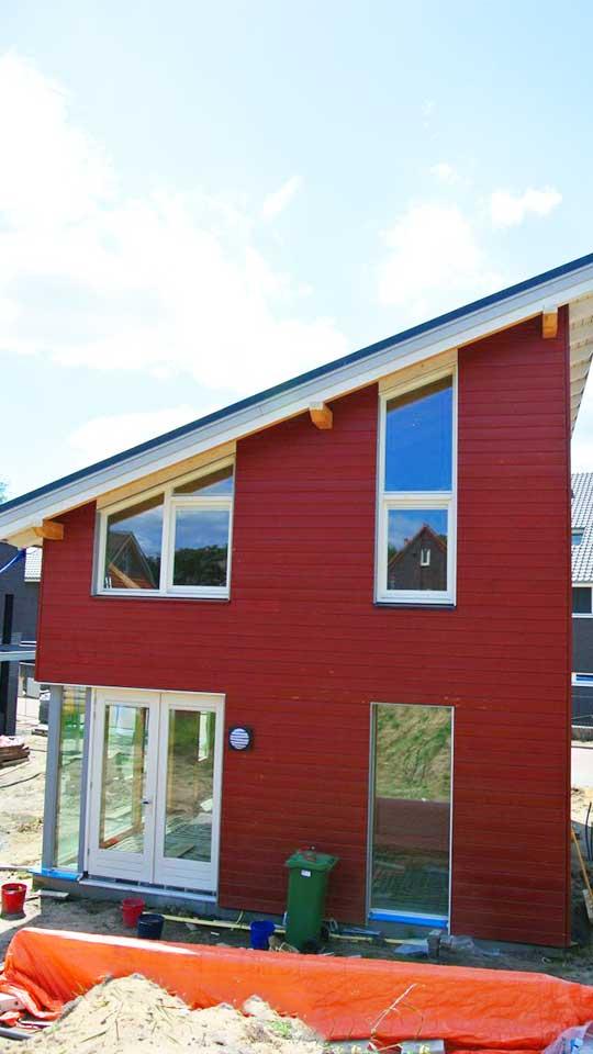 Twee etage starterswoning 3693 schuurwoning bouwen - Houten huis ...
